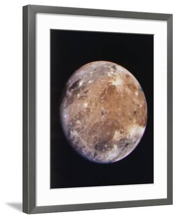 Voyager I Photo of Ganymede, Jupiter's Third Moon--Framed Photographic Print
