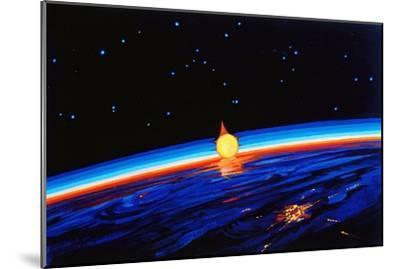 Sunrise In Space' by Leonov-Ria Novosti-Mounted Photographic Print