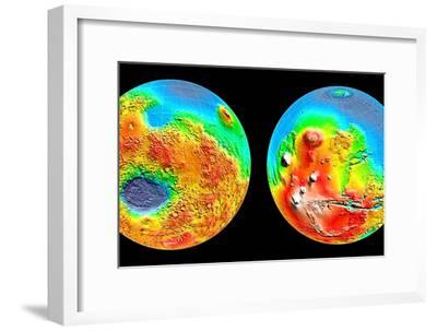 3-D Topography of Mars--Framed Photographic Print