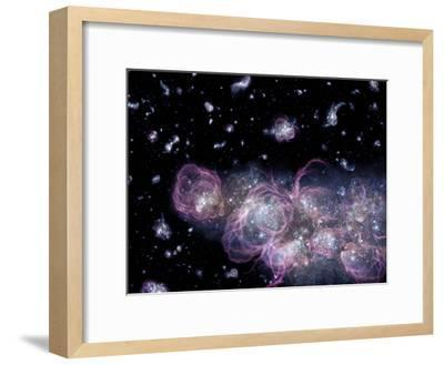 Star Birth In the Early Universe--Framed Photographic Print