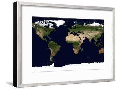World Map, June 2004--Framed Photographic Print