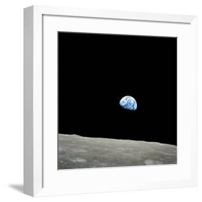 Earthrise Over Moon, Apollo 8--Framed Photographic Print
