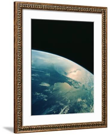 Florida Peninsula From Shuttle--Framed Photographic Print