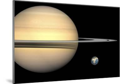 Saturn And Earth, Artwork-Walter Myers-Mounted Photographic Print
