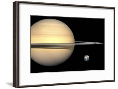 Saturn And Earth, Artwork-Walter Myers-Framed Photographic Print