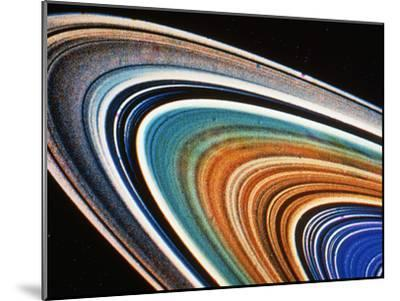 Voyager 2 Photograph of Saturn's Rings--Mounted Photographic Print
