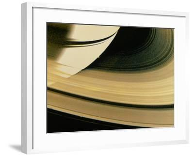 Voyager 1 Photo of Saturn & Its Rings--Framed Photographic Print