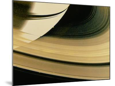 Voyager 1 Photo of Saturn & Its Rings--Mounted Photographic Print