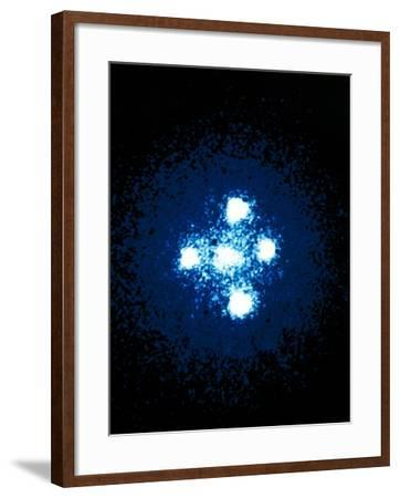 Hubble Space Telescope Image of the Einstein Cross--Framed Photographic Print
