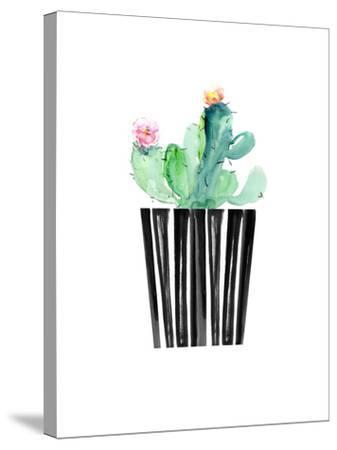 Nice Cactus-Dakota London-Stretched Canvas Print