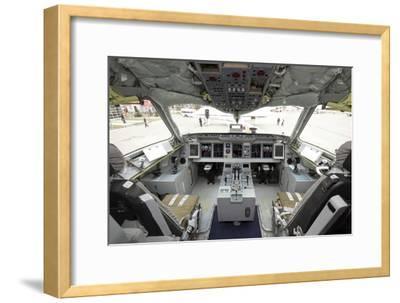 Cockpit of Superjet 100 Airliner-Ria Novosti-Framed Photographic Print