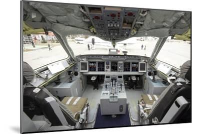Cockpit of Superjet 100 Airliner-Ria Novosti-Mounted Photographic Print