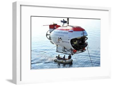 Mir-1 Deep Submersible In Lake Baikal-Ria Novosti-Framed Photographic Print