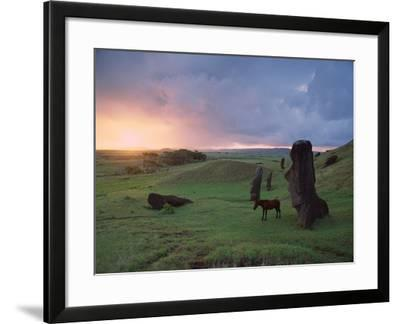 Easter Island Statues-David Nunuk-Framed Photographic Print