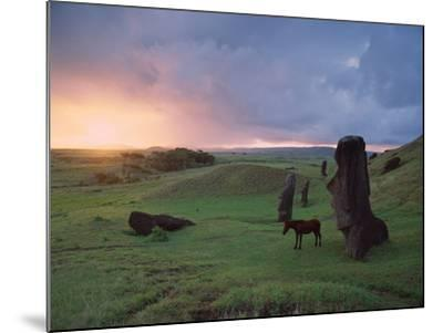 Easter Island Statues-David Nunuk-Mounted Photographic Print