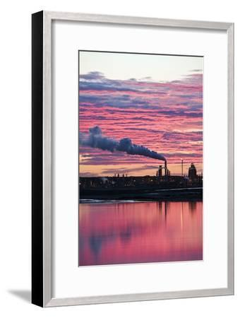 Oil Refinery At Sunset-David Nunuk-Framed Photographic Print