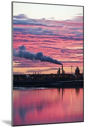 Oil Refinery At Sunset-David Nunuk-Mounted Photographic Print