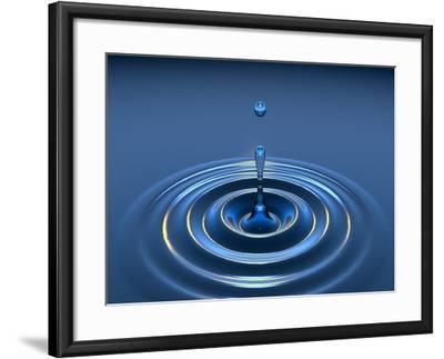 Water Drop-David Parker-Framed Photographic Print