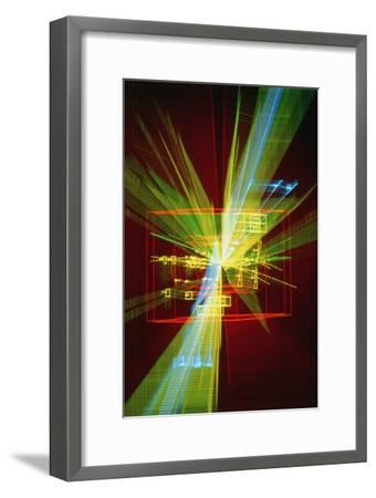 Particle Interaction At CERN-David Parker-Framed Photographic Print