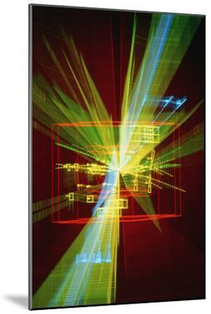 Particle Interaction At CERN-David Parker-Mounted Photographic Print