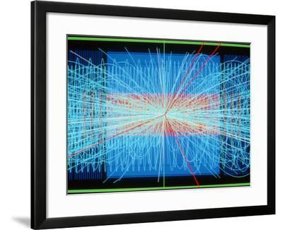 Simulation of Higgs Boson Production-David Parker-Framed Photographic Print
