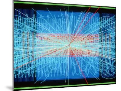 Simulation of Higgs Boson Production-David Parker-Mounted Photographic Print