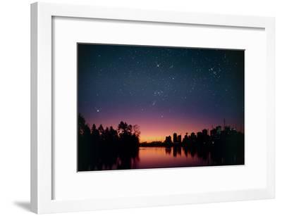 Starry Sky Over Vancouver, Canada-David Nunuk-Framed Photographic Print