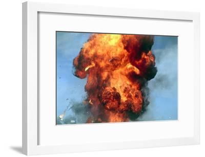 Pillar of Fire Due To Explosion-David Nunuk-Framed Photographic Print