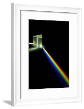 White Light Passing Through a Prism-David Parker-Framed Photographic Print