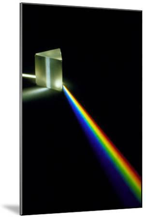White Light Passing Through a Prism-David Parker-Mounted Photographic Print