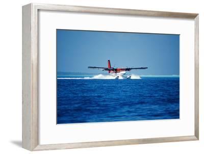 Seaplane Landing-Matthew Oldfield-Framed Photographic Print