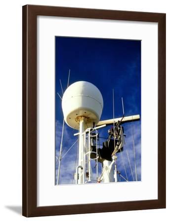 Satellite Receiver on Board the Golar Petrograde-David Parker-Framed Photographic Print