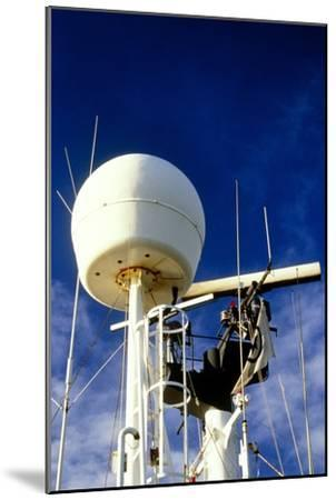 Satellite Receiver on Board the Golar Petrograde-David Parker-Mounted Photographic Print