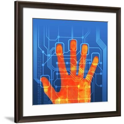 Fingerprint Scanner, Artwork-PASIEKA-Framed Photographic Print