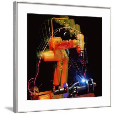 Computer-controlled Electric Arc-welding Robot-David Parker-Framed Photographic Print