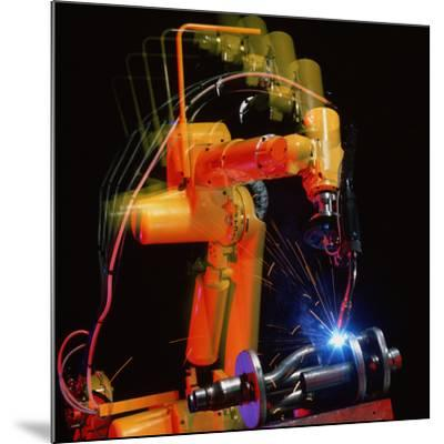 Computer-controlled Electric Arc-welding Robot-David Parker-Mounted Photographic Print