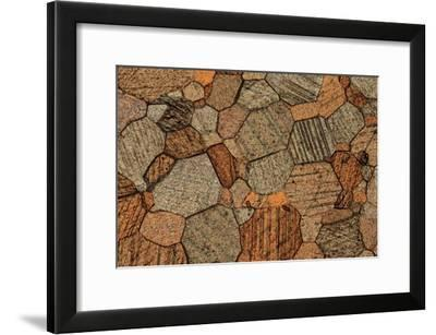 Marble, Thin Section, Polarised LM-PASIEKA-Framed Photographic Print