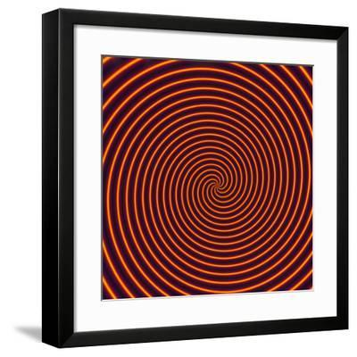 Abstract Computer Artwork of a Spiral-David Parker-Framed Photographic Print