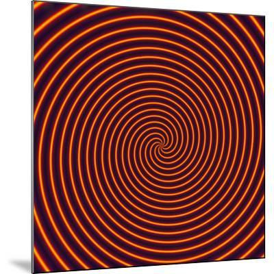 Abstract Computer Artwork of a Spiral-David Parker-Mounted Photographic Print