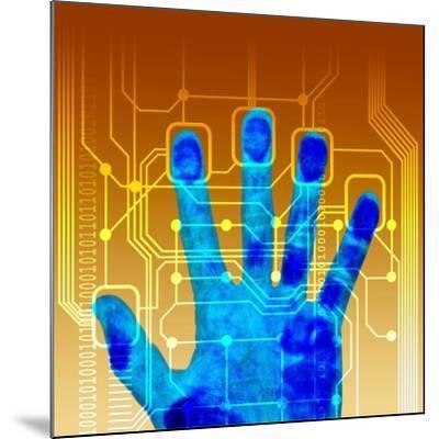 Fingerprint Scanner, Artwork-PASIEKA-Mounted Photographic Print