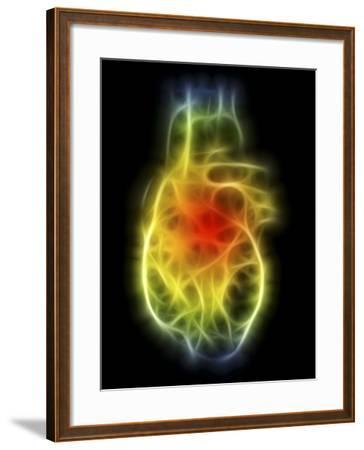 Heart, Computer Artwork-PASIEKA-Framed Photographic Print