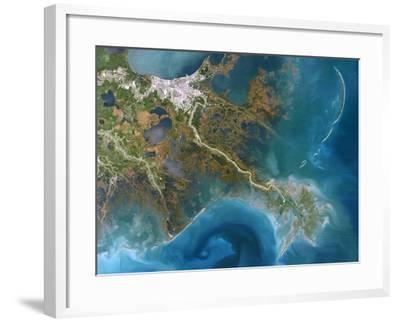 Mississippi Delta, Satellite Image-PLANETOBSERVER-Framed Photographic Print