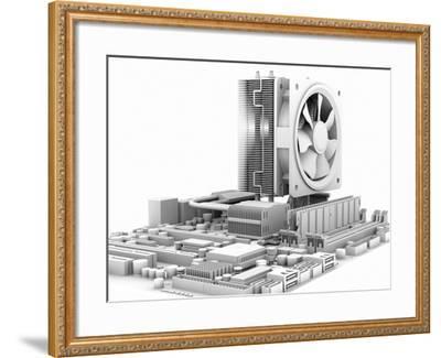 Computer Motherboard, Artwork-PASIEKA-Framed Photographic Print