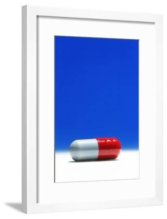 Capsule of Broad-spectrum Antibiotic Drug-David Parker-Framed Photographic Print