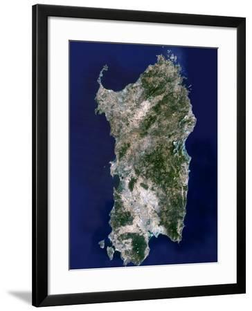 Sardinia, Satellite Image-PLANETOBSERVER-Framed Photographic Print