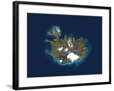 Iceland, Satellite Image-PLANETOBSERVER-Framed Photographic Print