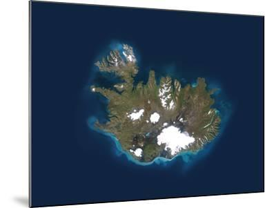 Iceland, Satellite Image-PLANETOBSERVER-Mounted Photographic Print