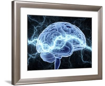 Human Brain, Conceptual Artwork-PASIEKA-Framed Photographic Print