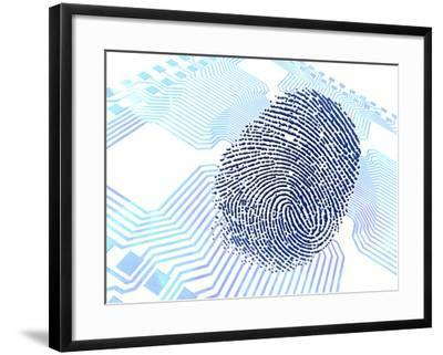 Biometric Fingerprint Scan, Artwork-PASIEKA-Framed Photographic Print