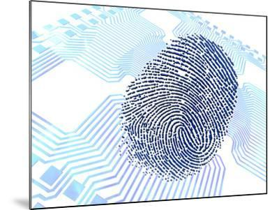 Biometric Fingerprint Scan, Artwork-PASIEKA-Mounted Photographic Print